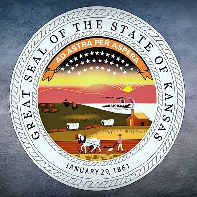 Kansas State Seal Poster by Movie Poster Prints