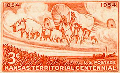 Kansas Territorial Centennial Poster by Lanjee Chee