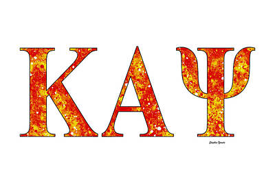 Poster featuring the digital art Kappa Alpha Psi - White by Stephen Younts