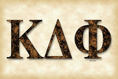 Kappa Delta Phi - Parchment Poster by Stephen Younts
