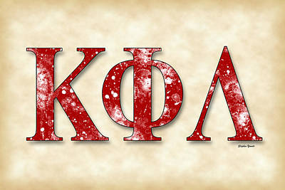 Kappa Phi Lambda - Parchment Poster