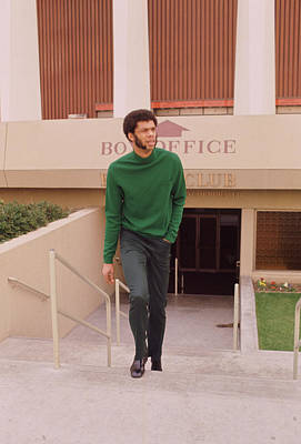 Kareem Abdul Jabbar Coming Up Stairs Poster by Retro Images Archive