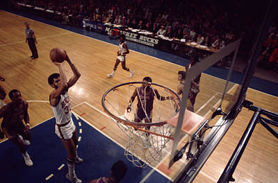 Kareem Abdul Jabbar Jump Shot In The Paint Poster by Retro Images Archive