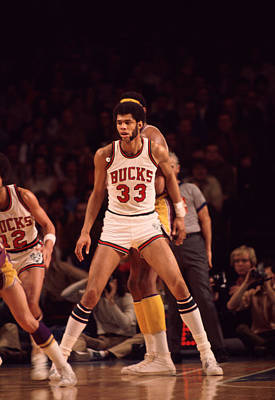 Kareem Abdul Jabbar Looking For Pass Poster by Retro Images Archive