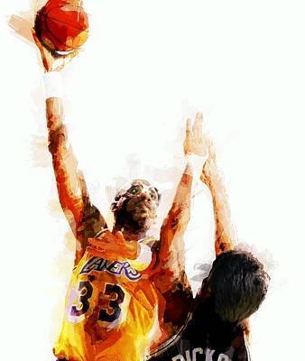 Kareem Abdul Jabbar N B A Legend Poster by Daniel Hagerman
