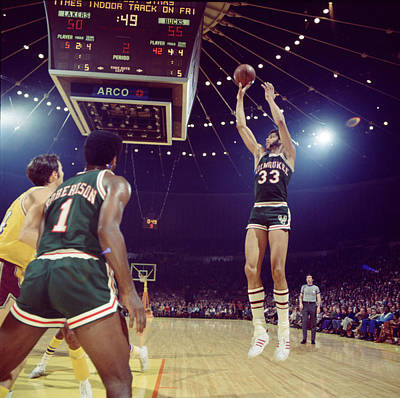 Kareem Abdul Jabbar Shooter Poster by Retro Images Archive