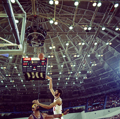 Kareem Abdul Jabbar Shooting Quick Poster by Retro Images Archive