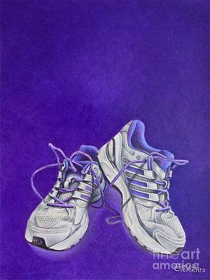 Poster featuring the painting Karen's Shoes by Pamela Clements