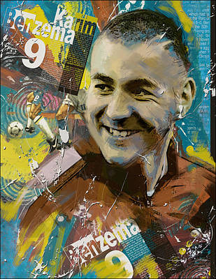Karim Benzema - B Poster by Corporate Art Task Force