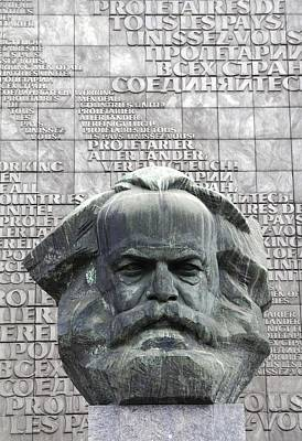 Karl Marx Monument In Chemnitz Poster