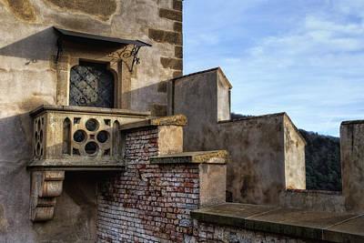 Karlstejn Castle Doorway Poster by Joan Carroll