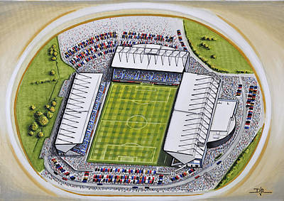 Kassam Stadium - Oxford United Poster by D J Rogers