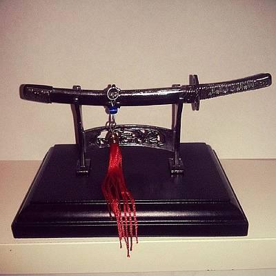 #katana #decorative #miniature #weapon Poster