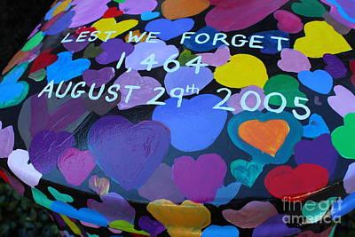 Katrina Casket Memorial Inscription Poster