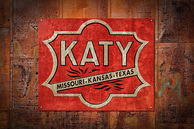 Katy Railroad Sign Dsc02853 Poster by Greg Kluempers
