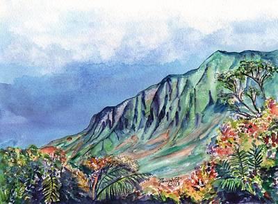Kauai Kalalau Valley Poster by Marionette Taboniar