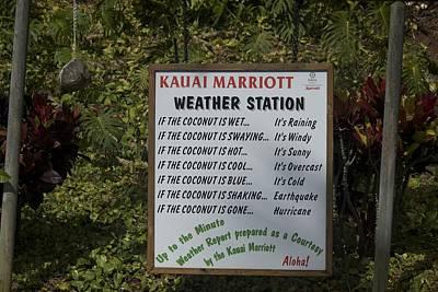 Kauai Weather Report Poster by Bonita Hensley