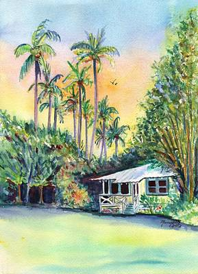 Kauai West Side Cottage Poster by Marionette Taboniar