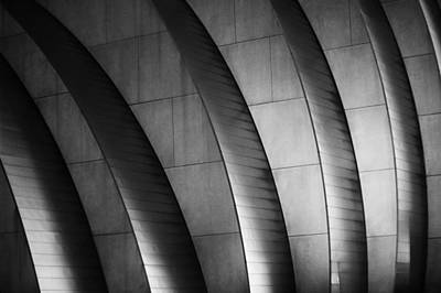 Kauffman Performing Arts Center Black And White Poster