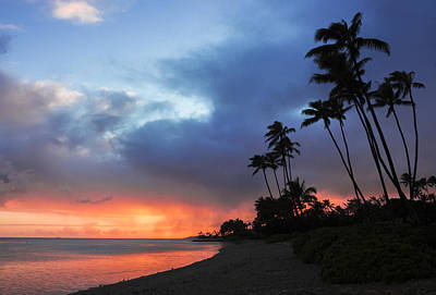 Poster featuring the photograph Kawaikui Sunset 2 by Leigh Anne Meeks