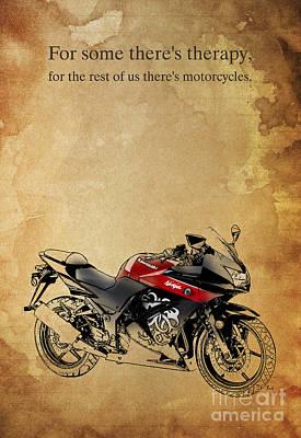 Kawasaki Quote Poster by Pablo Franchi