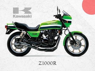 Kawasaki Z1000r 1982 Poster by Mark Rogan