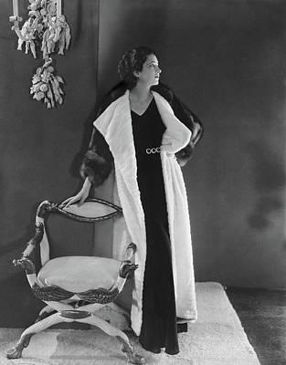 Kay Francis Wearing A Fur Coat Poster