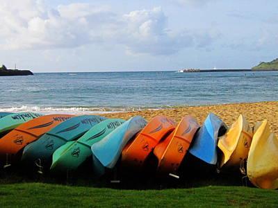 Kayak Poster by Ange Sylvestri