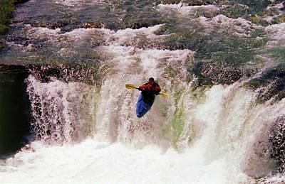 Kayak Leap II Poster by Al Bourassa
