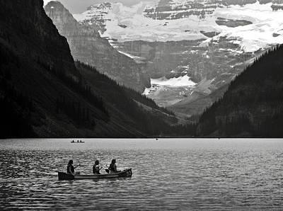 Kayak On Lake Louise Poster