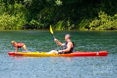 Kayaking Buddies Poster
