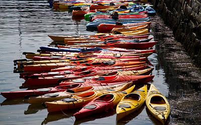 Kayaks At Rockport Poster