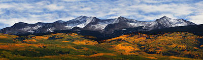 Kebler Pass Fall Colors Poster by Darren  White