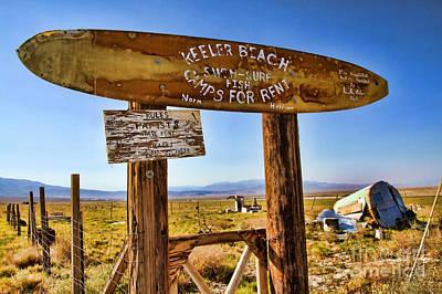 Keeler Beach Camping By Diana Sainz Poster