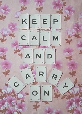 Keep Calm And Carry On Poster by Georgia Fowler