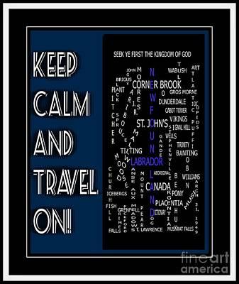 Keep Calm And Pray On Newfoundland Labrador Crosswords Poster