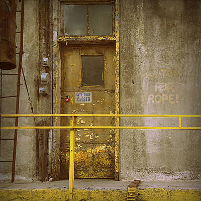 Poster featuring the photograph Keep Door Closed by Joseph Skompski