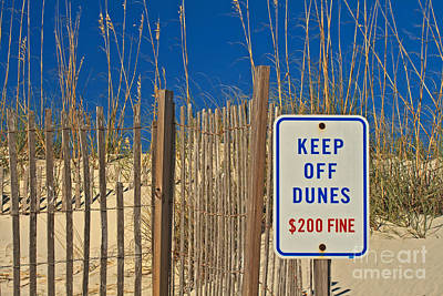 Keep Off Dunes Poster