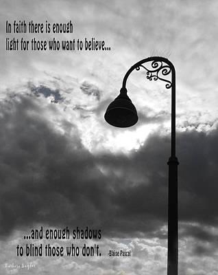 Keep The Faith Blaise Pascal Poster