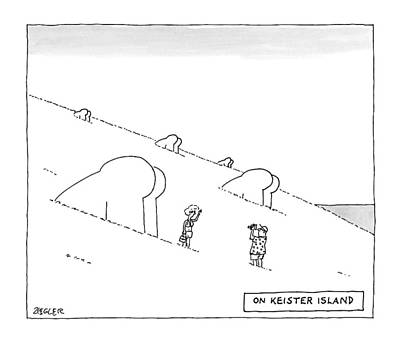 Keister Island -- Statues Of Butts Instead Poster