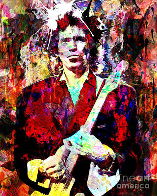 Keith Richards - The Rolling Stones Poster by Ryan Rock Artist