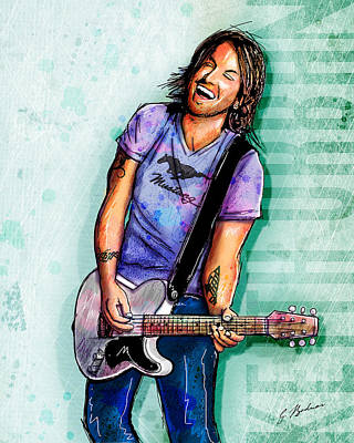Keith Urban Poster by Gary Bodnar