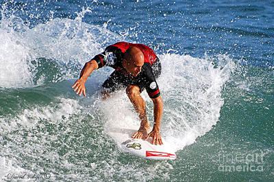 Kelly Slater World Surfing Champion Copy Poster by Davids Digits