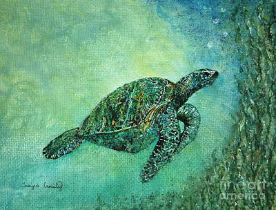 Kelp Forest Sea Turtle Poster