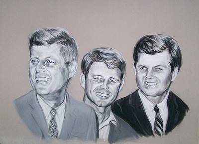 Kennedy Brothers Poster by Martha Suhocke