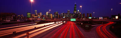 Kennedy Expressway Chicago Il Usa Poster