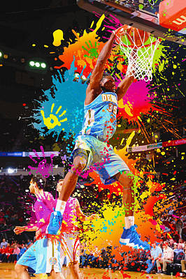 Kenneth Faried  Of The Denver Nuggets Dunks Poster by Don Kuing