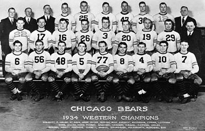 Chicago Bears Of 1934 Poster