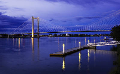 Poster featuring the photograph Kennewick Bridge 2 by Sonya Lang