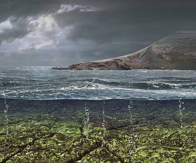 Kenorland Prehistoric Landscape, Artwork Poster by Science Photo Library